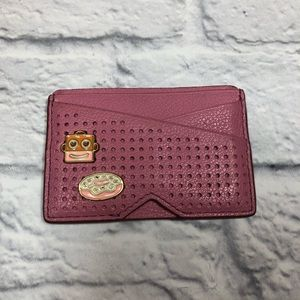 Fossil pink leather card, ID wallet/holder.